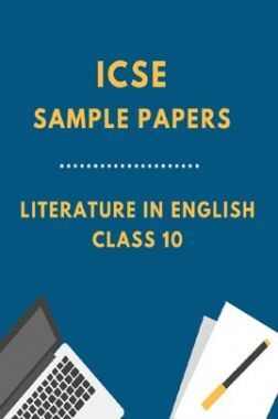 ICSE Sample Paper For Literature In English Class 10
