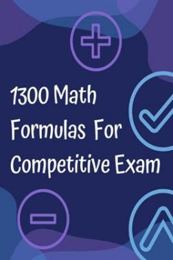 1300 Math Formulas For Competitive Exam