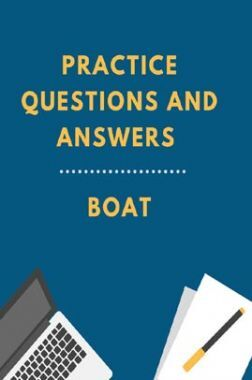 Practice Questions And Answers For Boat