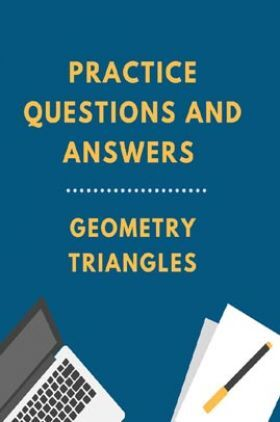 Practice Questions And Answers For Geometry Triangles