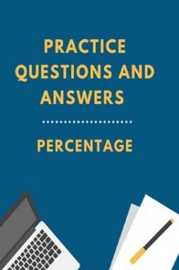 Practice Questions And Answers For Percentage