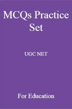 MCQs Practice Set UGC NET For Education