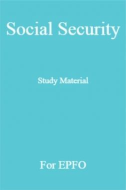 Social Security Study Material For EPFO