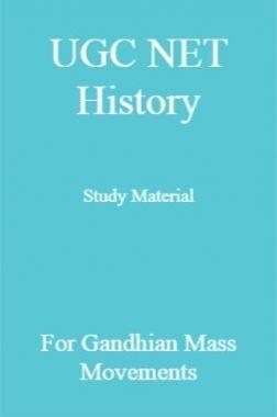 UGC NET History Study Material For Gandhian Mass Movements