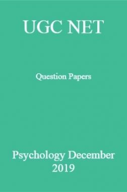 UGC NET Question Papers Psychology December 2019