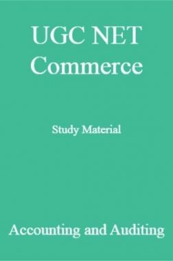 UGC NET Commerce Study Material Accounting and Auditing
