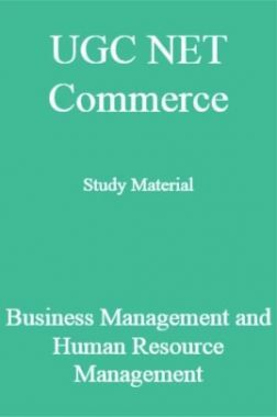 UGC NET Commerce Study Material Business Management and Human Resource Management