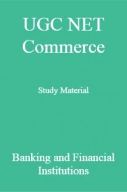 UGC NET Commerce Study Material Banking and Financial Institutions