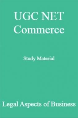 UGC NET Commerce Study Material Legal Aspects of Business