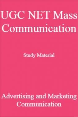 UGC NET Mass Communication Study Material Advertising and Marketing Communication