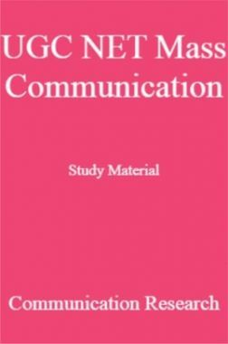UGC NET Mass Communication Study Material Communication Research