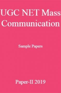 UGC NET Mass Communication Sample Papers Paper-II 2019