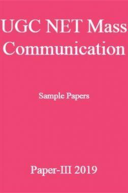 UGC NET Mass Communication Sample Papers Paper-III 2019