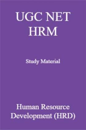 UGC NET HRM Study Material  Human Resource Development