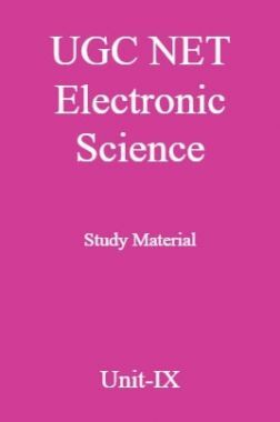 UGC NET Electronic Science Study Material Unit-9