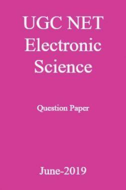 UGC NET Electronic Science Question Paper June-2019