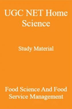 UGC NET Home Science Study Material Food Science And Food Service Management