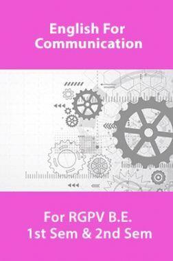 English For Communication For RGPV B.E. 1st Sem & 2nd Sem