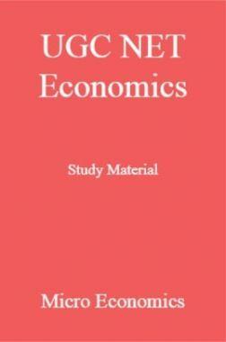 UGC NET Economics Study Material Micro Economics