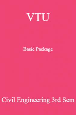 VTU Basic Package Civil Engineering III SEM