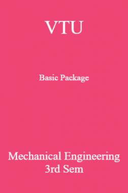 VTU Basic Package Mechanical Engineering III SEM
