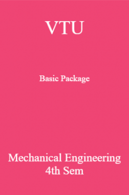 VTU Basic Package Mechanical Engineering IV SEM