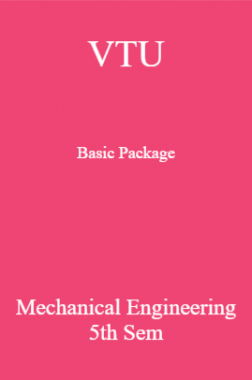 VTU Basic Package Mechanical Engineering V SEM