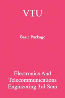 VTU Basic Package Electronics and Telecommunications Engineering III SEM