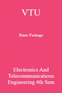 VTU Basic Package Electronics and Telecommunications Engineering IV SEM