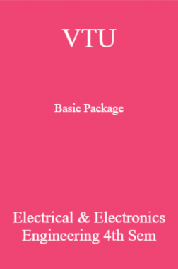 VTU Basic Package Electrical & Electronics Engineering IV SEM