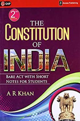 The Constitution Of India Bare Act With Short Notes For Students
