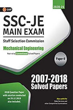 SSC JE Main Exam Mechanical Engineering Paper-II Conventional Solved Papers (2007-2018) For (2020-21)