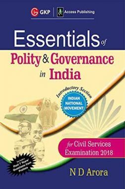 Essentials Of Polity & Governance In India Civil Services Examination 2018