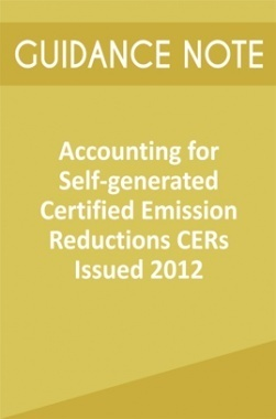 Guidance Note on Accounting for Self-generated Certified Emission Reductions CERs Issued 2012