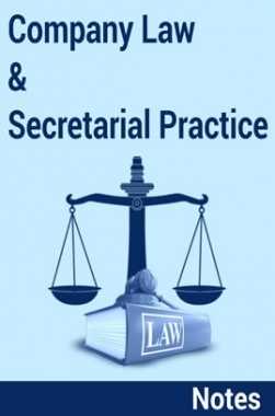 Company Law and Secretarial Practice Notes