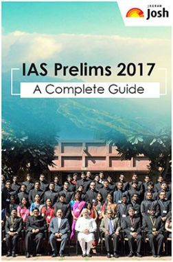 IAS Prelims 2017 A Complete Guide