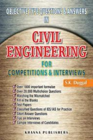 Civil Engineering For Competitions And Interviews (Objective Type Questions And Answers)