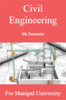 Civil Engineering 4th For Manipal University