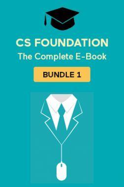 CS Foundation: The Complete E-Book Bundle 1