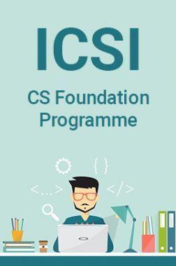 ICSI CS Foundation Programme