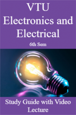 VTU Electronics and Electrical 6th Sem Study Guide with Video Lecture