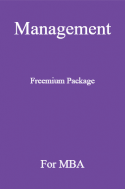 Management Freemium Package For MBA