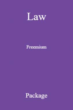 Law Freemium Package