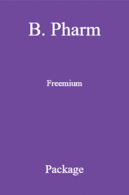 B. Pharm Freemium Package
