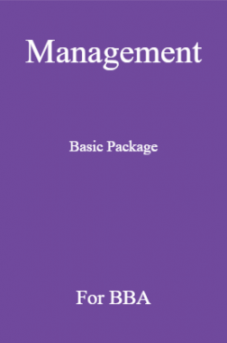 Management Basic Package For BBA