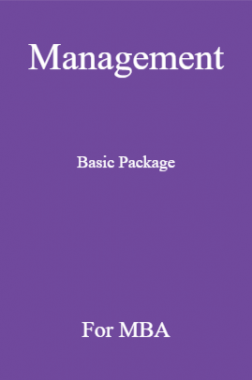 Management Basic Package For MBA