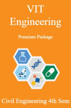 VIT Engineering Premium Package Civil Engineering 4th Sem