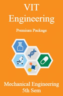VIT Engineering Premium Package Mechanical Engineering 5th Sem