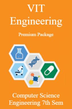 VIT Engineering Premium Package Computer Science Engineering 7th Sem