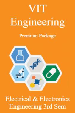 VIT Engineering Premium Package Electrical & Electronics Engineering 3rd Sem
